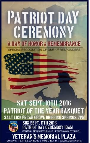 Patriot Day Ceremony A Day Of Honor & Remembrance