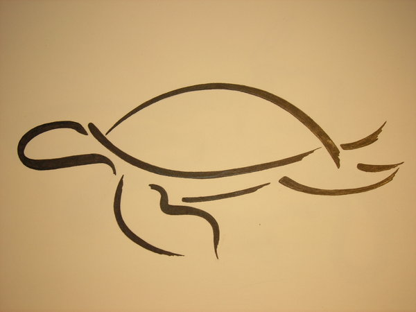 Line Art Turtle : Simple turtle tattoos designs and pictures