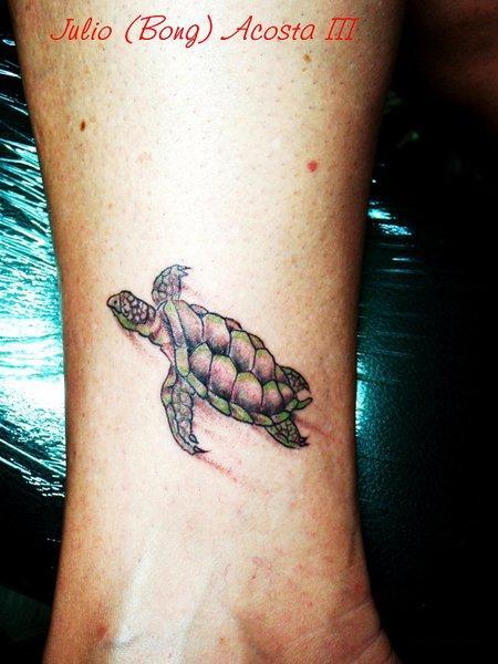 Turtle tattoo wrist - photo#22