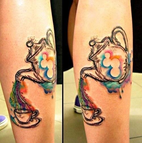 Tea cup tattoo stencil | Tattoos and Trends | Pinterest ...  |Alice Tea Tattoo