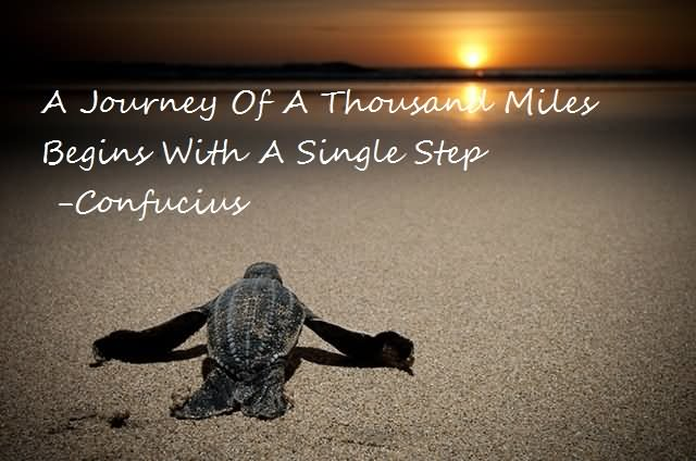 Image result for great journey starts with one step