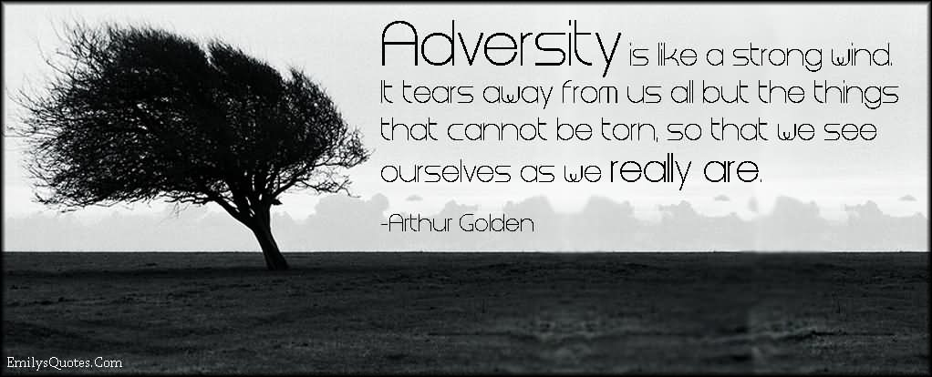 adversity helps us discover who we are Three reasons god allows adversity when god uses adversity to wake us up or motivate us, we he has our best interest in mind and is always there to help us.