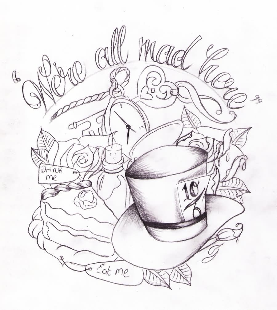 Original Mad Hatter Tattoo