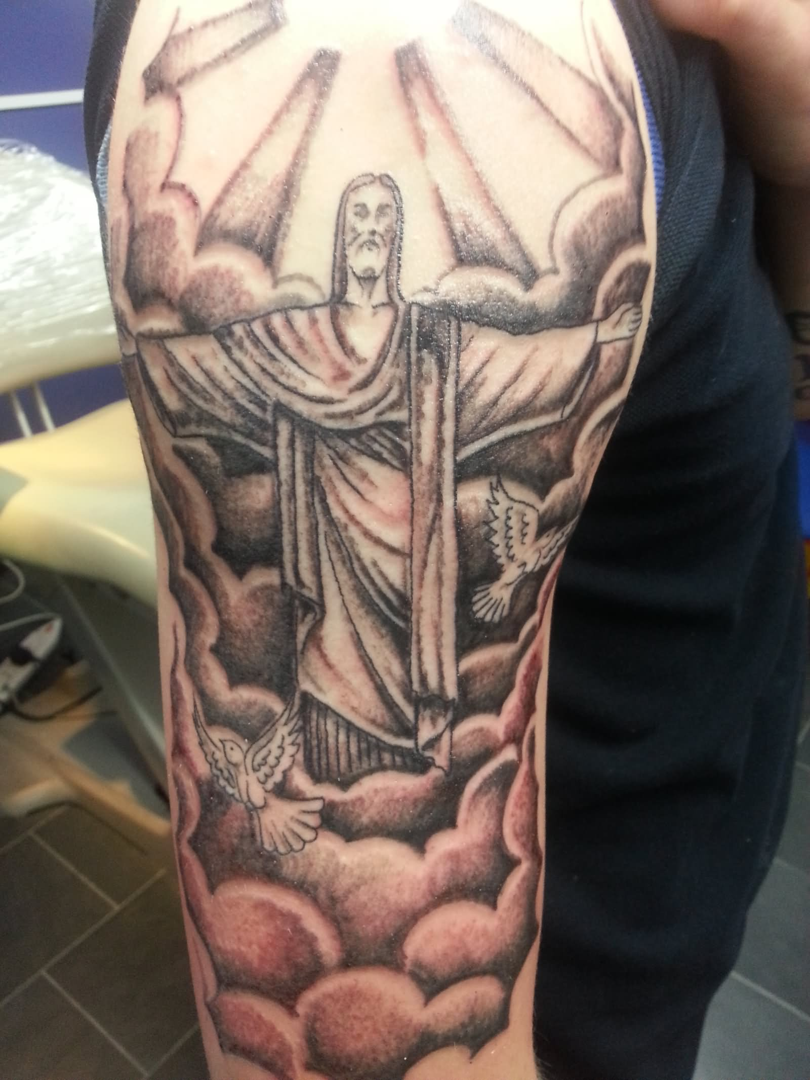 25 latest christ the redeemer tattoos. Black Bedroom Furniture Sets. Home Design Ideas