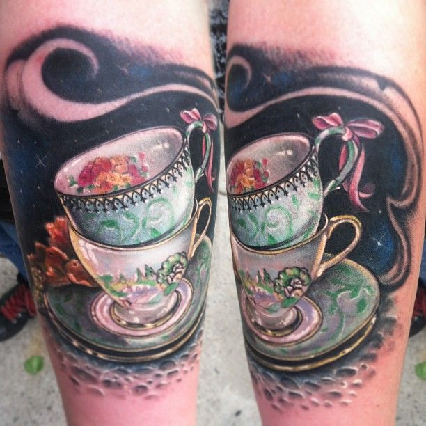 32+ Stacked Teacup Tattoos