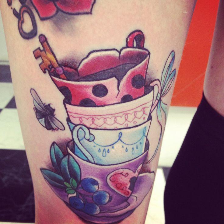 114 best Alice In Wonderland Tattoos images on Pinterest ...  |Alice Tea Tattoo