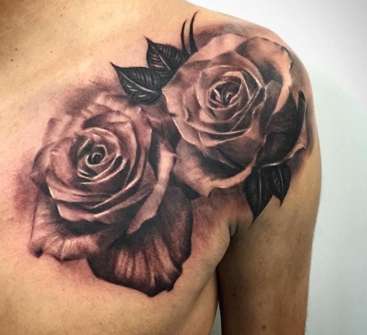 4+ Lovely Grey Rose Tattoos Ideas