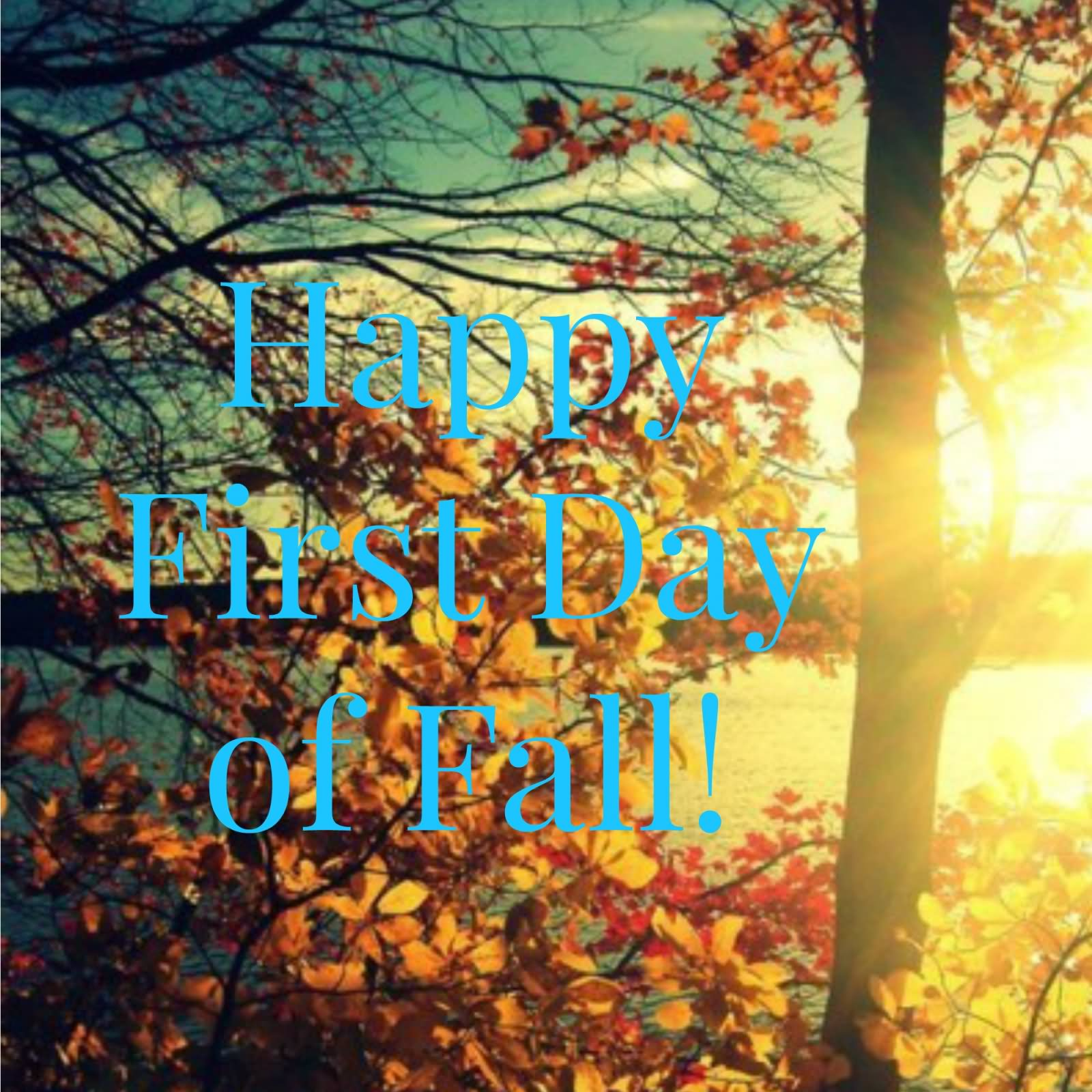 Captivating Happy First Day Of Fall 2016 Wishes Picture For Facebook