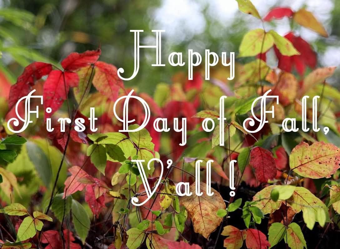 Happy First Day Of Fall Yu0027all