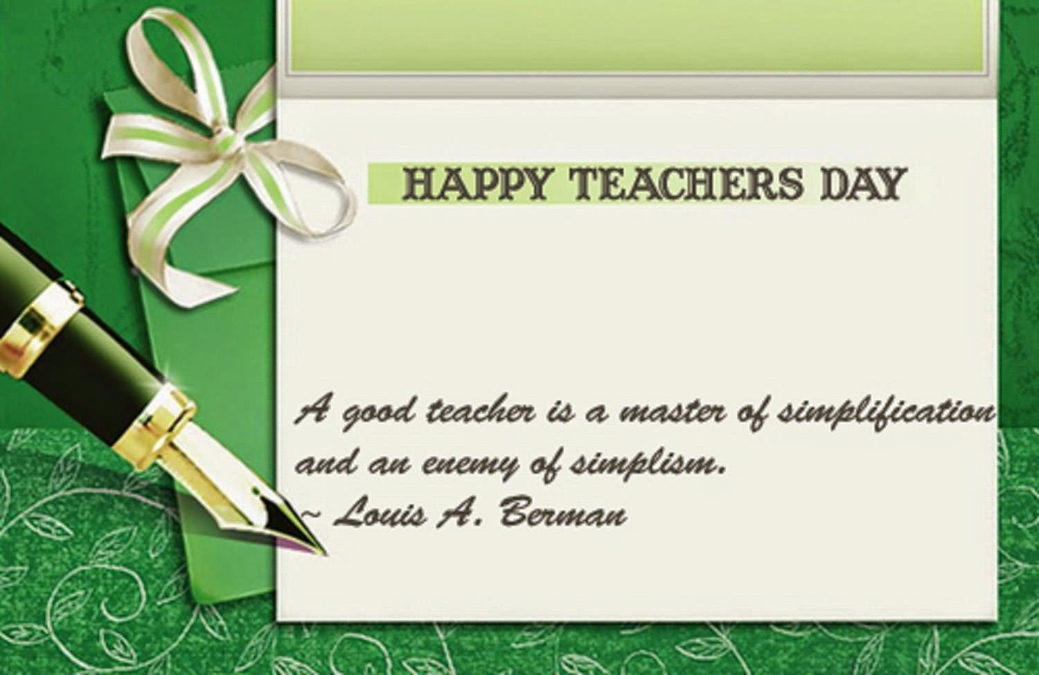 50 wonderful happy teachers day wish pictures and images happy teachers day a good teacher is a master of simplification and an enemy of simplism spiritdancerdesigns Images