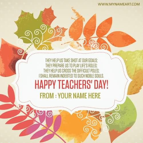 50 Wonderful Happy Teacher's Day Wish Pictures And Images