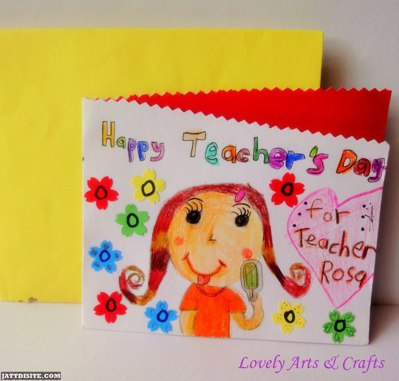 50 beautiful teachers day greeting card pictures and images happy teachers day hand made greeting card kristyandbryce Image collections