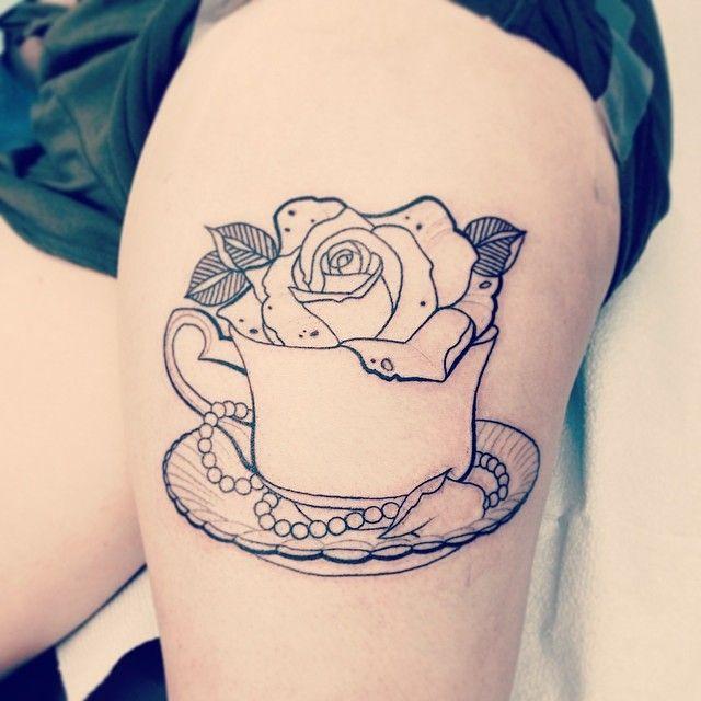 28+ Simple Teacup Tattoos