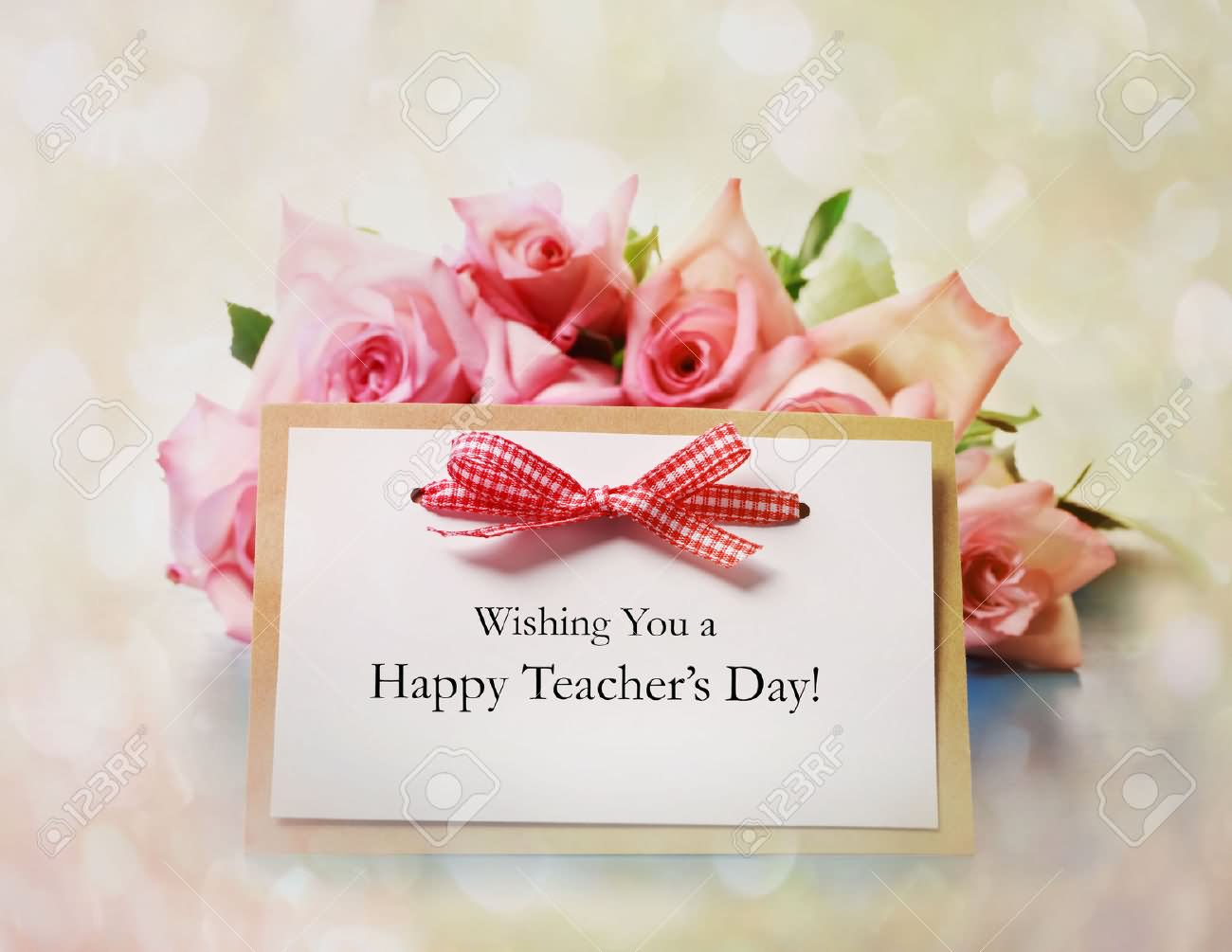 50 beautiful teachers day greeting card pictures and images wishing you a happy teachers day beautiful greeting card with bow m4hsunfo