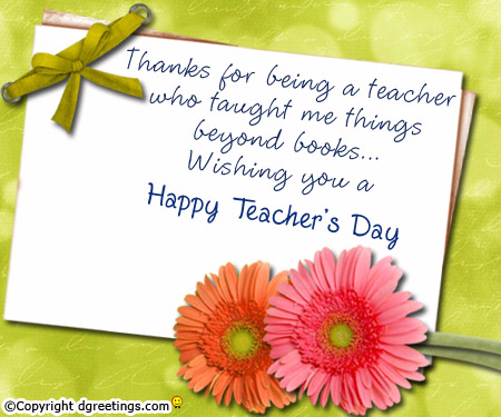 beautiful teachers day greeting card pictures and images, Greeting card