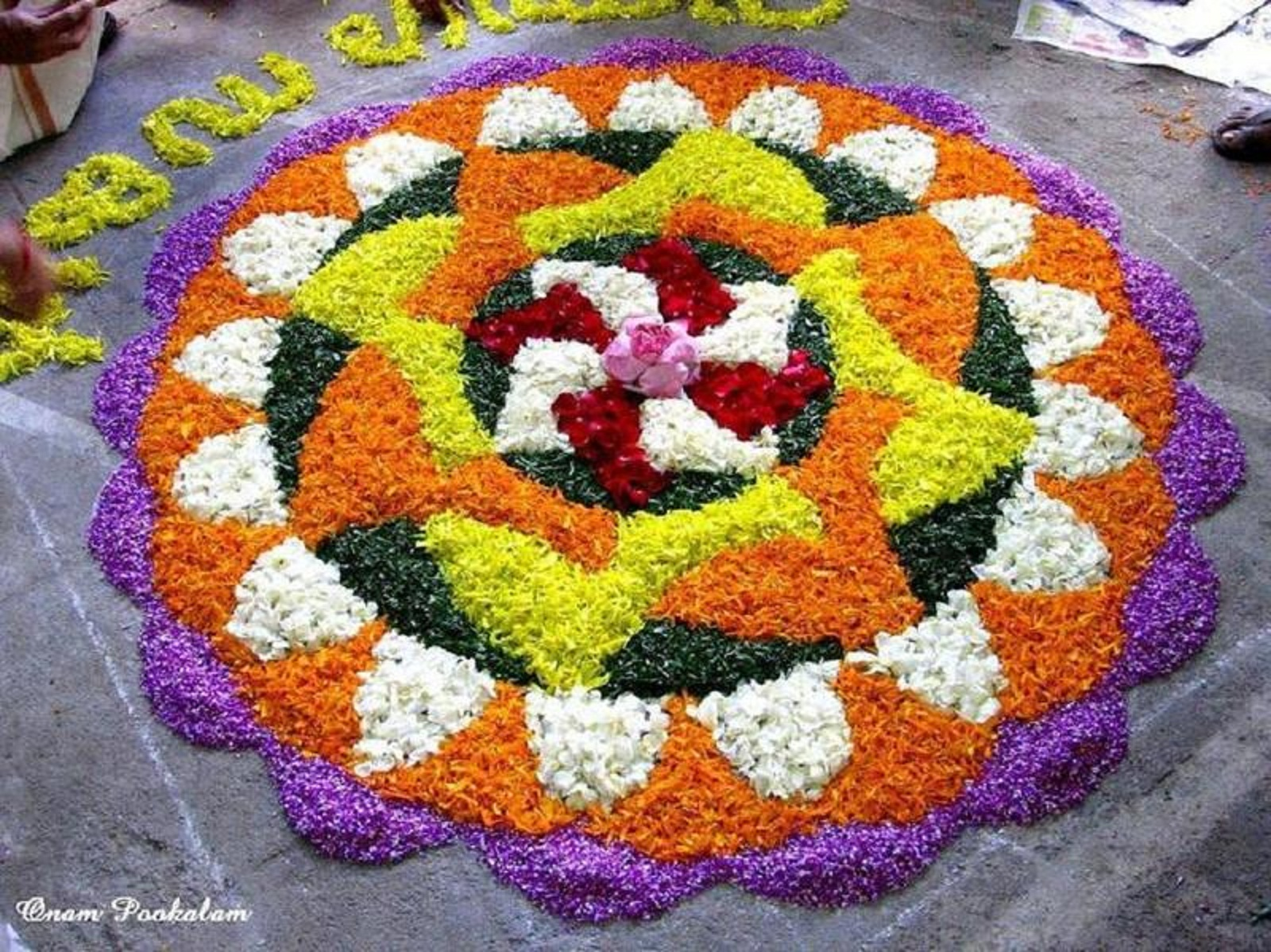 50 Incredible Onam Pookalam Rangoli Design Pictures And Images