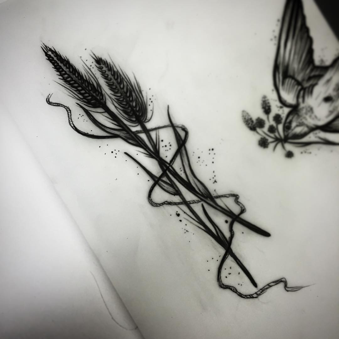 Ink Ideas Graphic Design: 9+ Simple Wheat Tattoo Designs