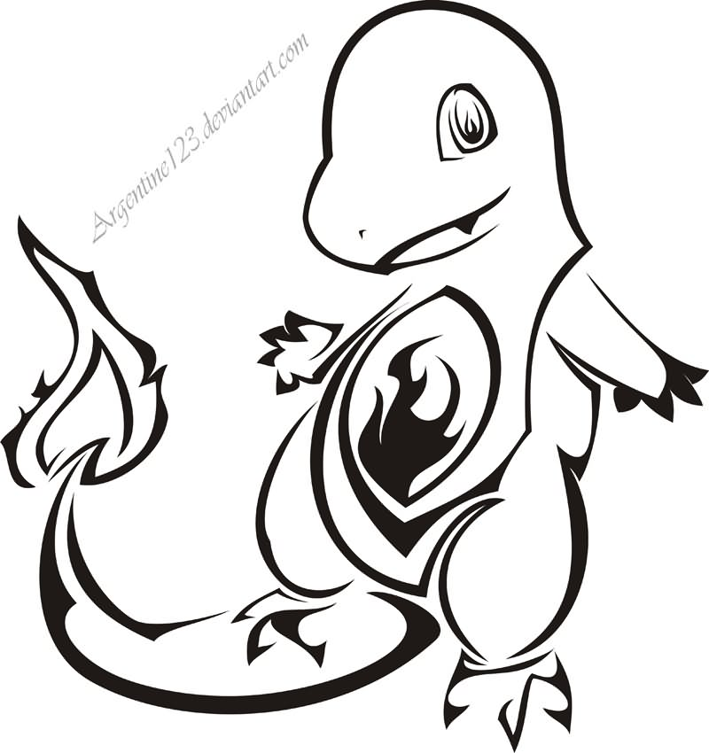 12 Tribal Charmander Tattoo Designs And Pictures