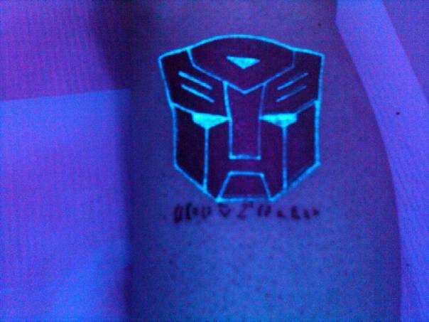 8d36dfeaf Blacklight Transformer Logo Tattoo Design For Sleeve By Faecat