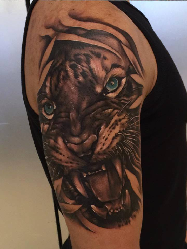 tiger tattoos. Black Bedroom Furniture Sets. Home Design Ideas
