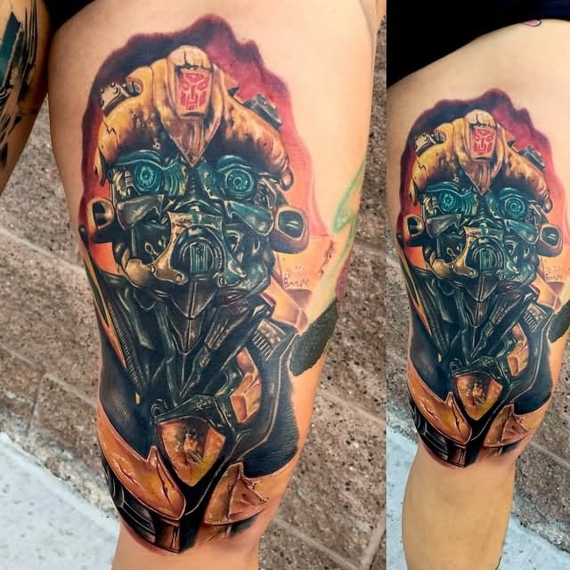 Transformers Tattoos Designs Ideas And Meaning: 16+ Bumblebee Transformer Tattoos