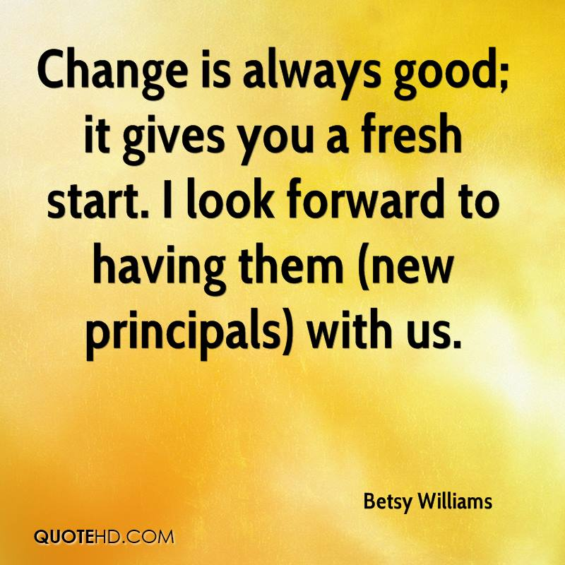 a change is as good as If you ask people what they think of change, surprisingly many will say that change is good that is because organizational change is usually presented as a mean of improving something in fact in many cases even lay-offs can turn out good.