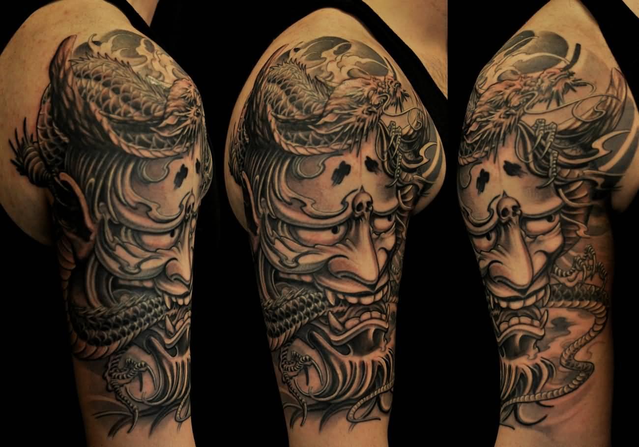 62+ Japanese Hannya Mask Tattoos