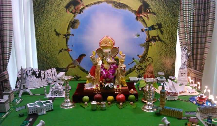 25 incredible ganesh chaturthi decoration idea pictures Environmentally friendly decorations