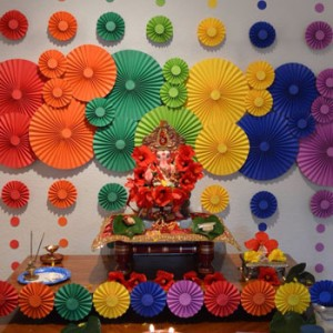 Eco Friendly Ganpati Decoration Idea For Home