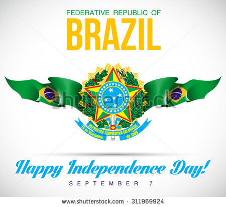 Brazil Independence Day Greeting Pictures And Images - Federative republic of brazil map
