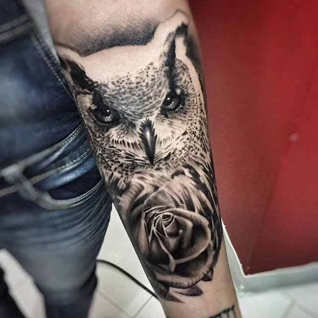 Owl Sleeve Tattoo: 4+ Amazing Owl Tattoos By Pxa Body Art