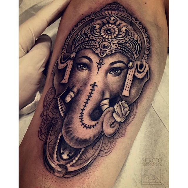 60 awesome ganesha tattoos for Ganesh tattoo pictures