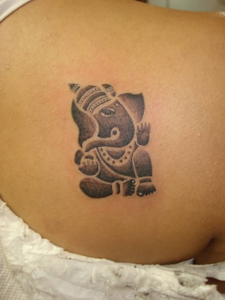 Simple ganesha tattoo