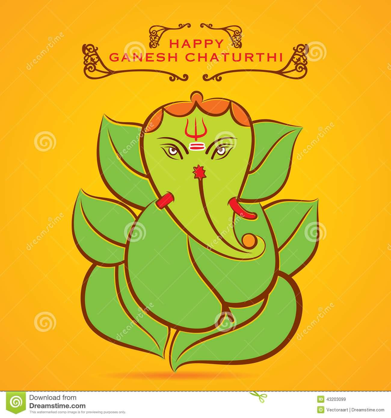 50 very beautiful ganesh chaturthi greeting card pictures and images happy ganesh chaturthi eco friendly lord ganesha picture on greeting card kristyandbryce Images