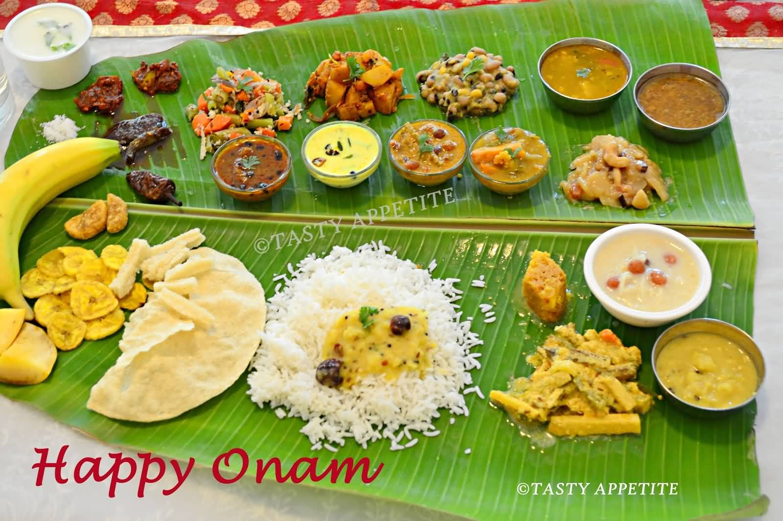50 very beautiful happy onam wish pictures and images happy onam traditional food picture kristyandbryce Image collections