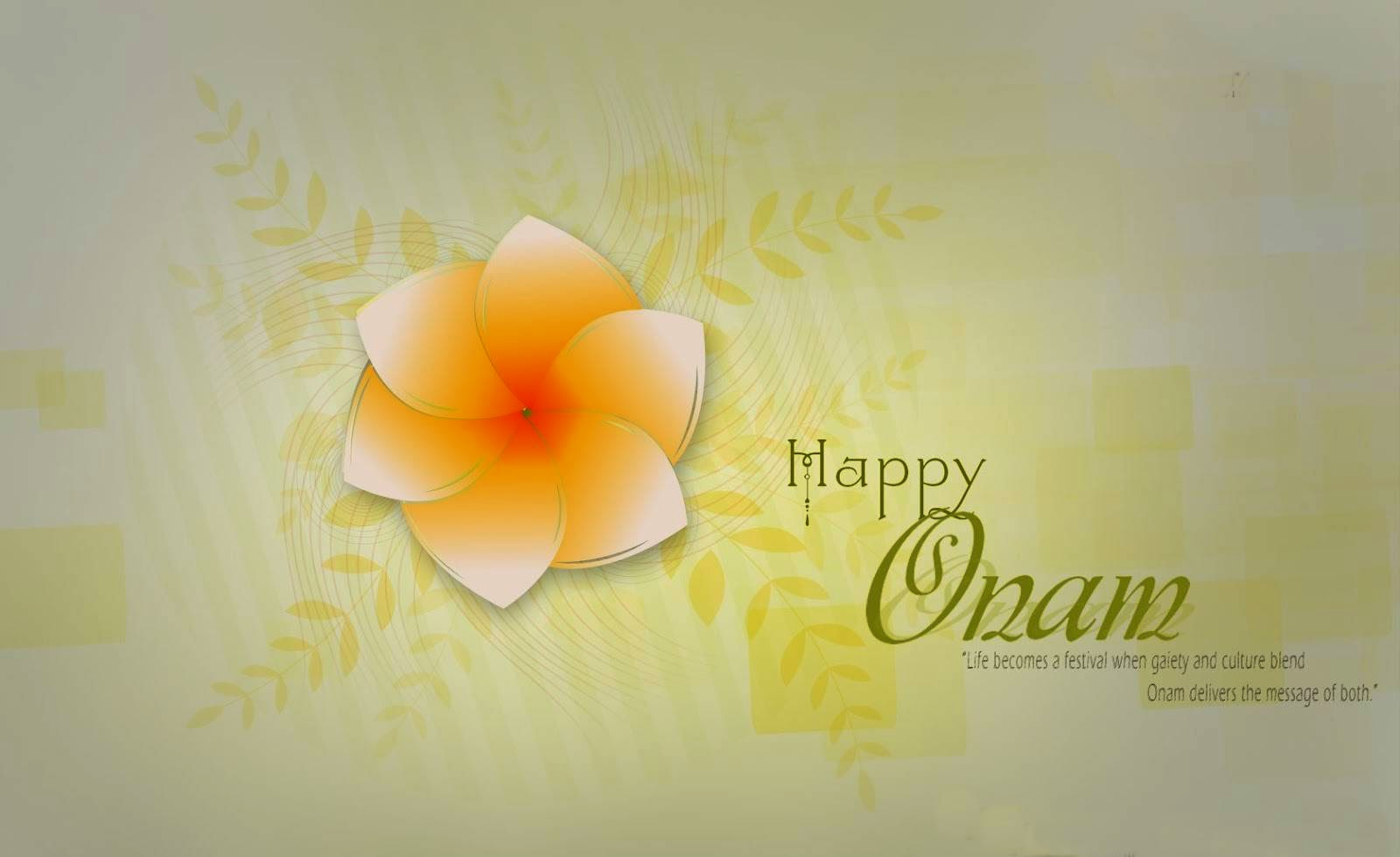 50 very beautiful happy onam wish pictures and images happy onam wishes wallpaper with flower kristyandbryce Image collections