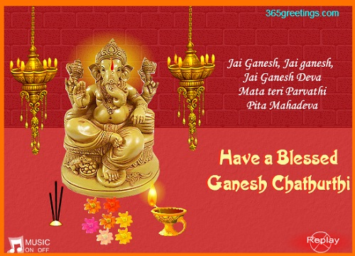 65 Beautiful Happy Ganesh Chaturthi 2016 Greeting Pictures