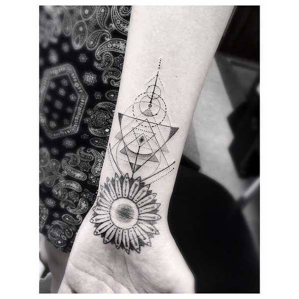 4 Grey Ink Dotwork Tattoo Designs