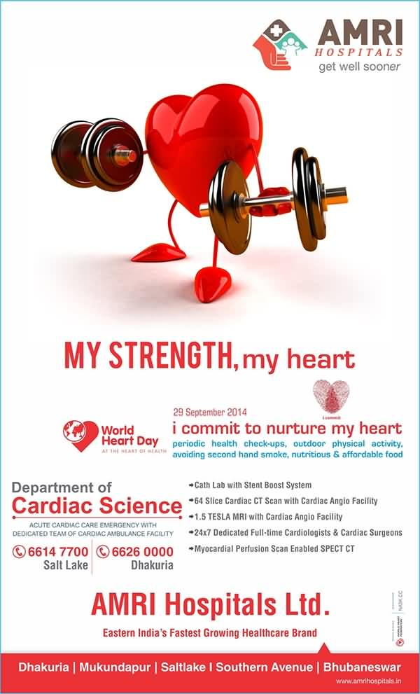 My Strength Heart Happy World Day Poster