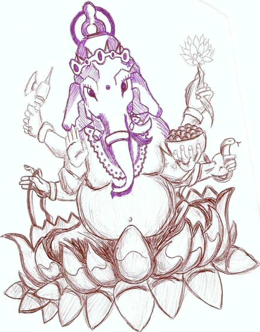 11 ganesha tattoo designs ideas and samples - 11 Ganesha Tattoo Designs Ideas And Samples 58