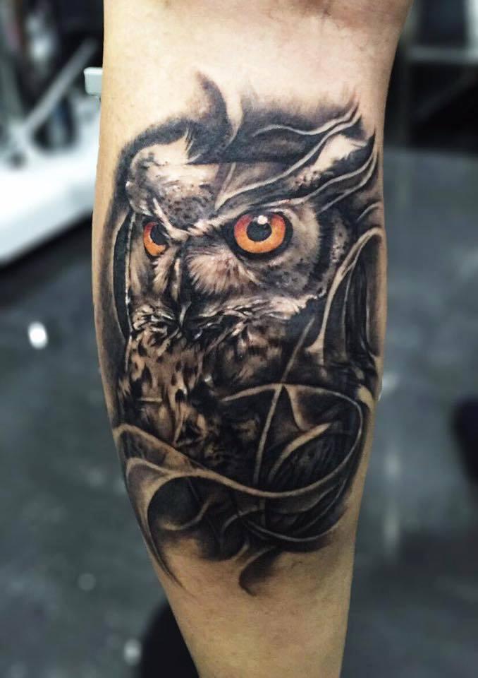 4 Amazing Owl Tattoos By Pxa Body Art