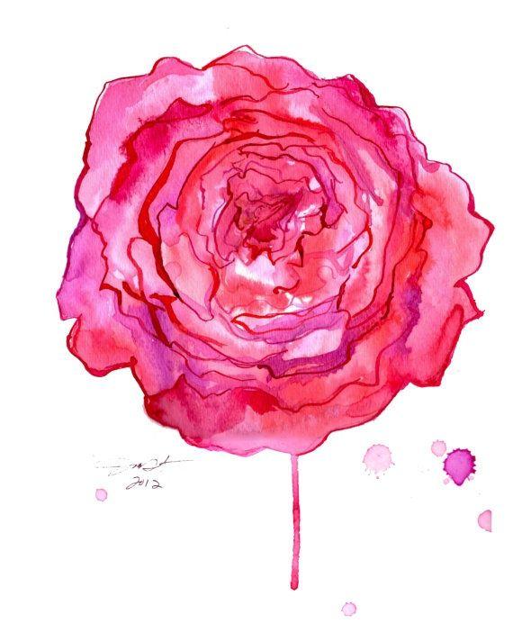 Peony Watercolor Flower Tattoos: 14+ Peony Watercolor Tattoos