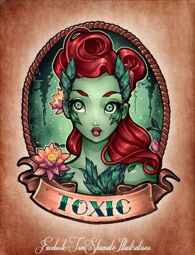 4 nice poison ivy tattoo designs rh askideas com poison ivy tattoo studio poison ivy tattoo