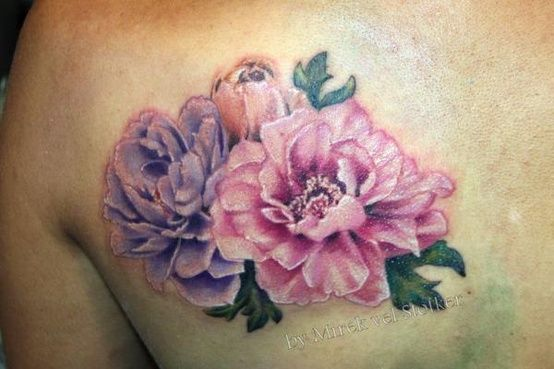 Realistic Flower Tattoos On The Right Forearm Tattoo: 21+ Realistic Peony Tattoos