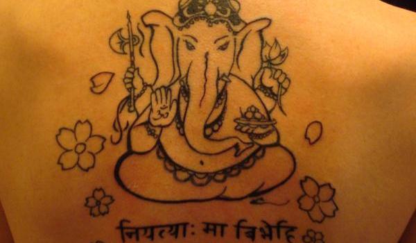 ganesh head tattoo outline - photo #44