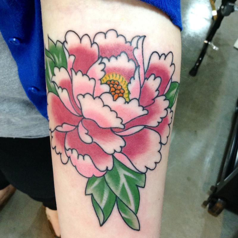 24+ Traditional Peony Tattoos