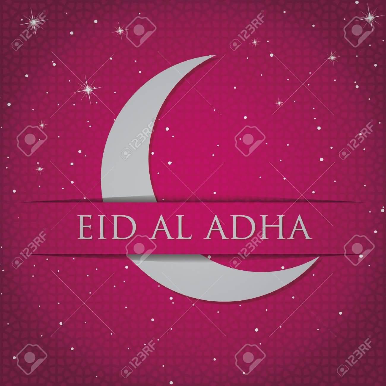 65 best eid ul adha 2016 greeting photos and images eid al adha 2016 half moon greeting card kristyandbryce Images