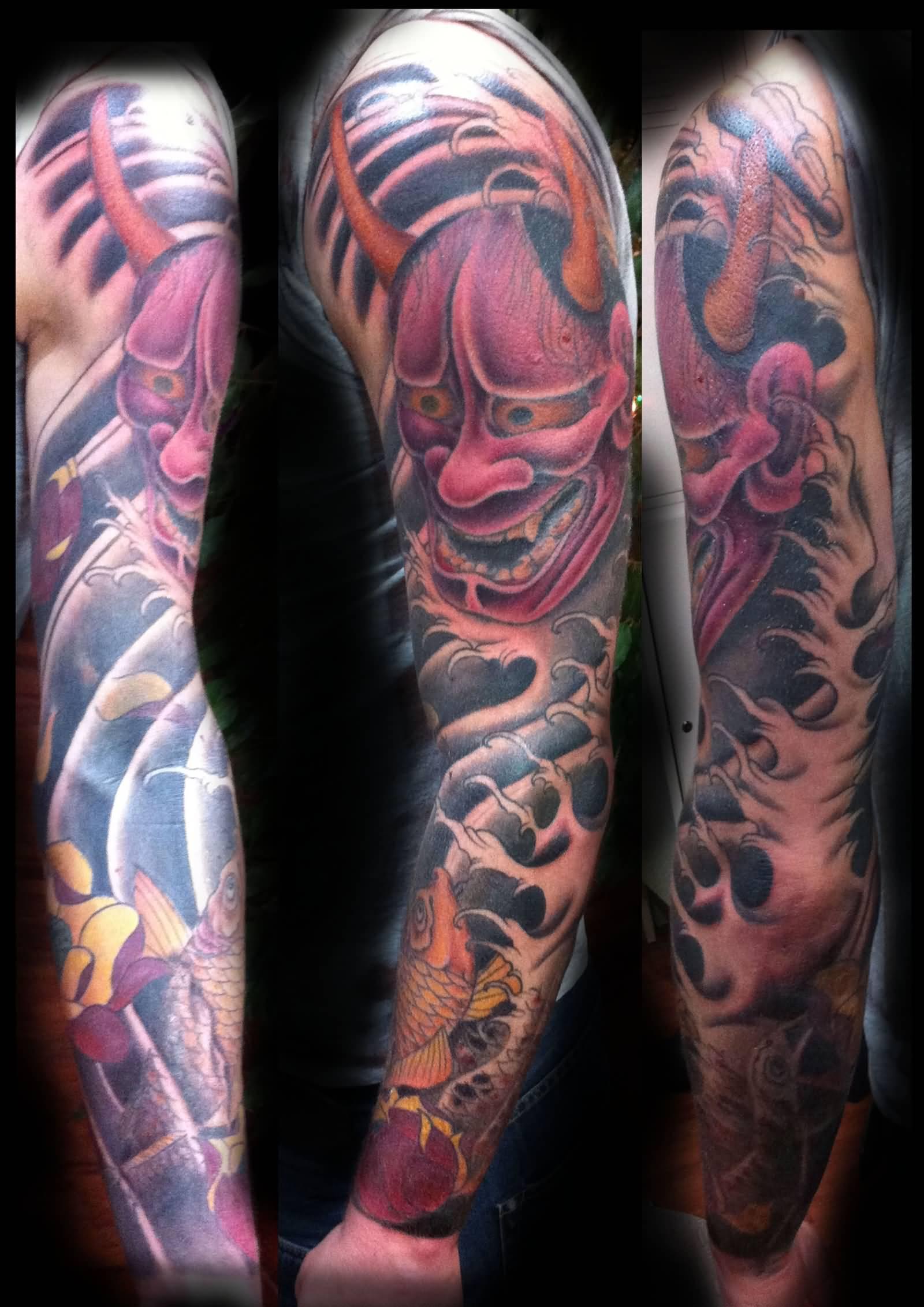 1cd36455c 47+ Fantastic Hannya Sleeve Tattoos