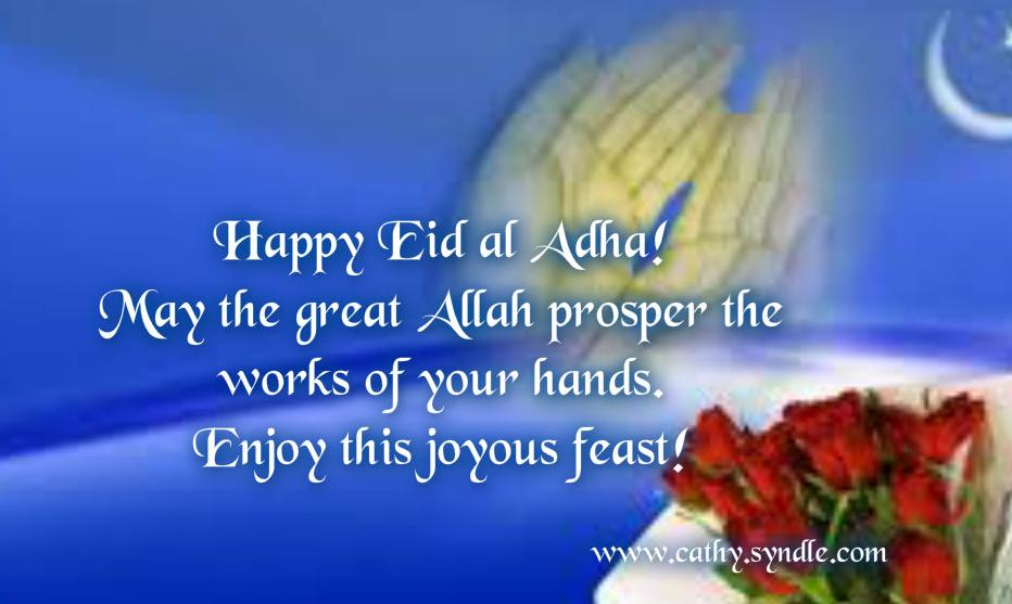 60 wonderful eid al adha wishes pictures and photos happy eid al adha may the great allah prosper the works of your hands enjoy m4hsunfo