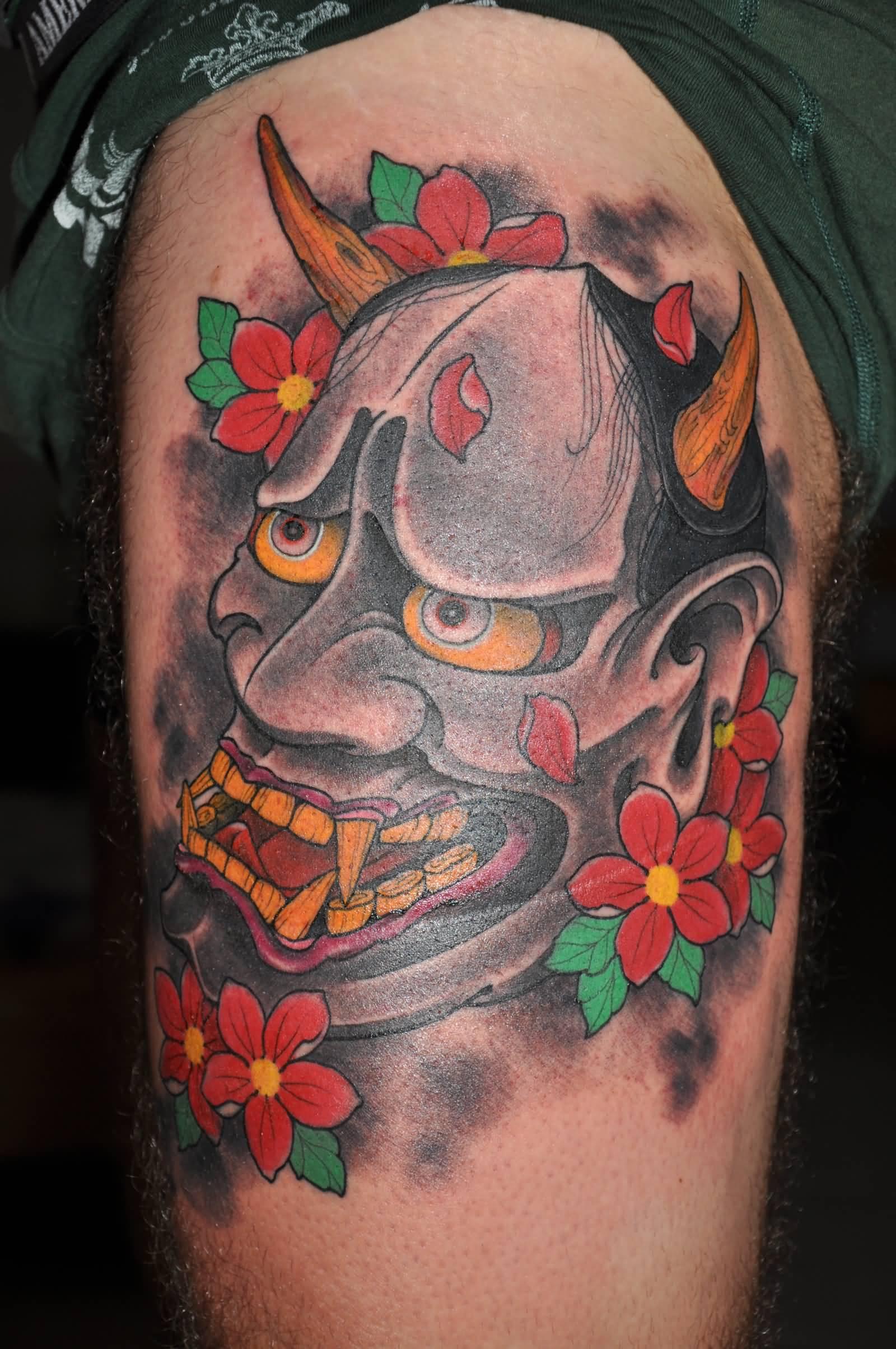 35+ Latest Hannya Leg Tattoos